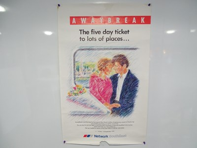 Lot 26 - A collection of railway related advertising...
