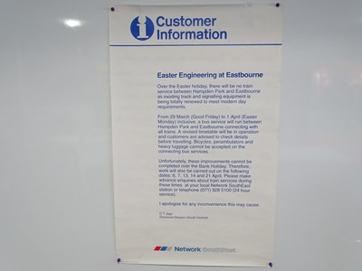 Lot 30 - A group of Network SouthEast Engineering Work...