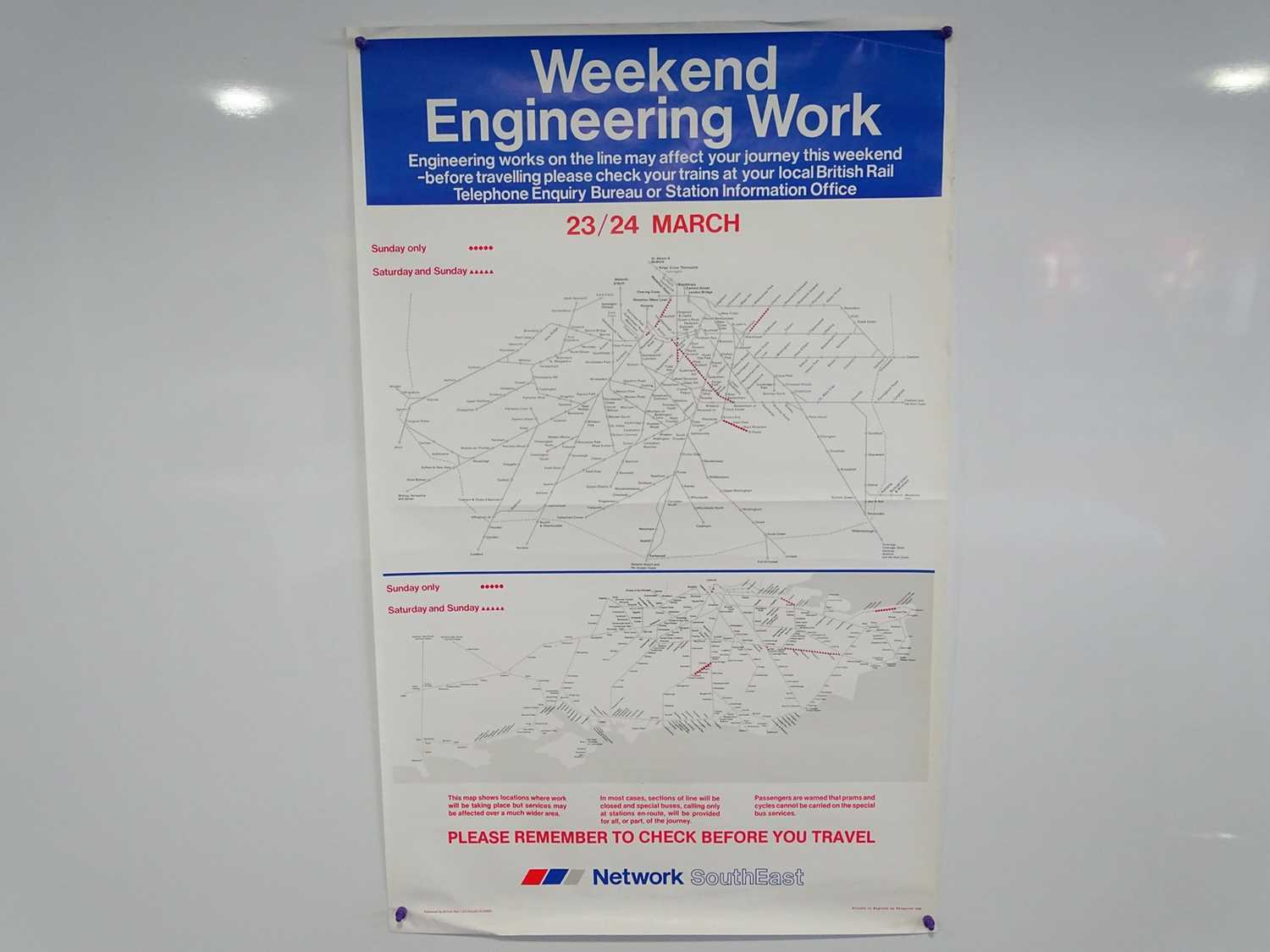Lot 31 - A collection of railway related advertising...