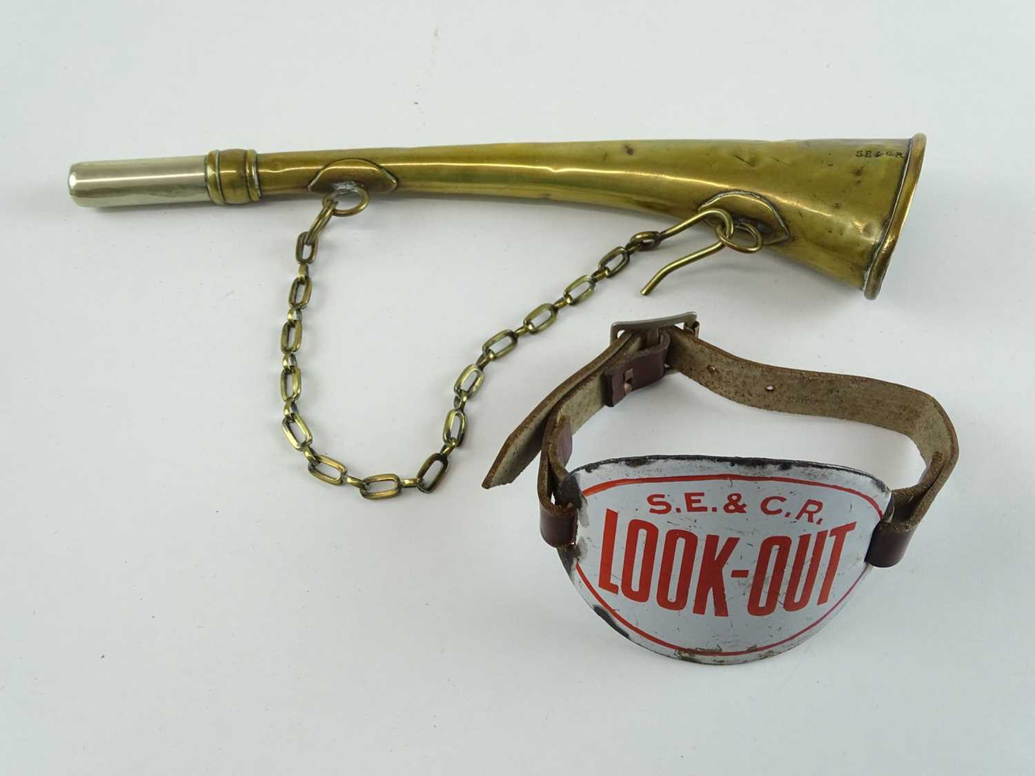 Lot 37 - A South Eastern and Chatham Railway 'Look Out'...