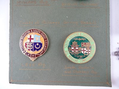 Lot 38 - A mixed group of Railway buttons and service...