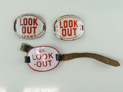 Lot 41 - A group of enamel 'Look Out' arm badges...