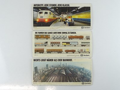 Lot 44 - A group of German passenger carriage card...