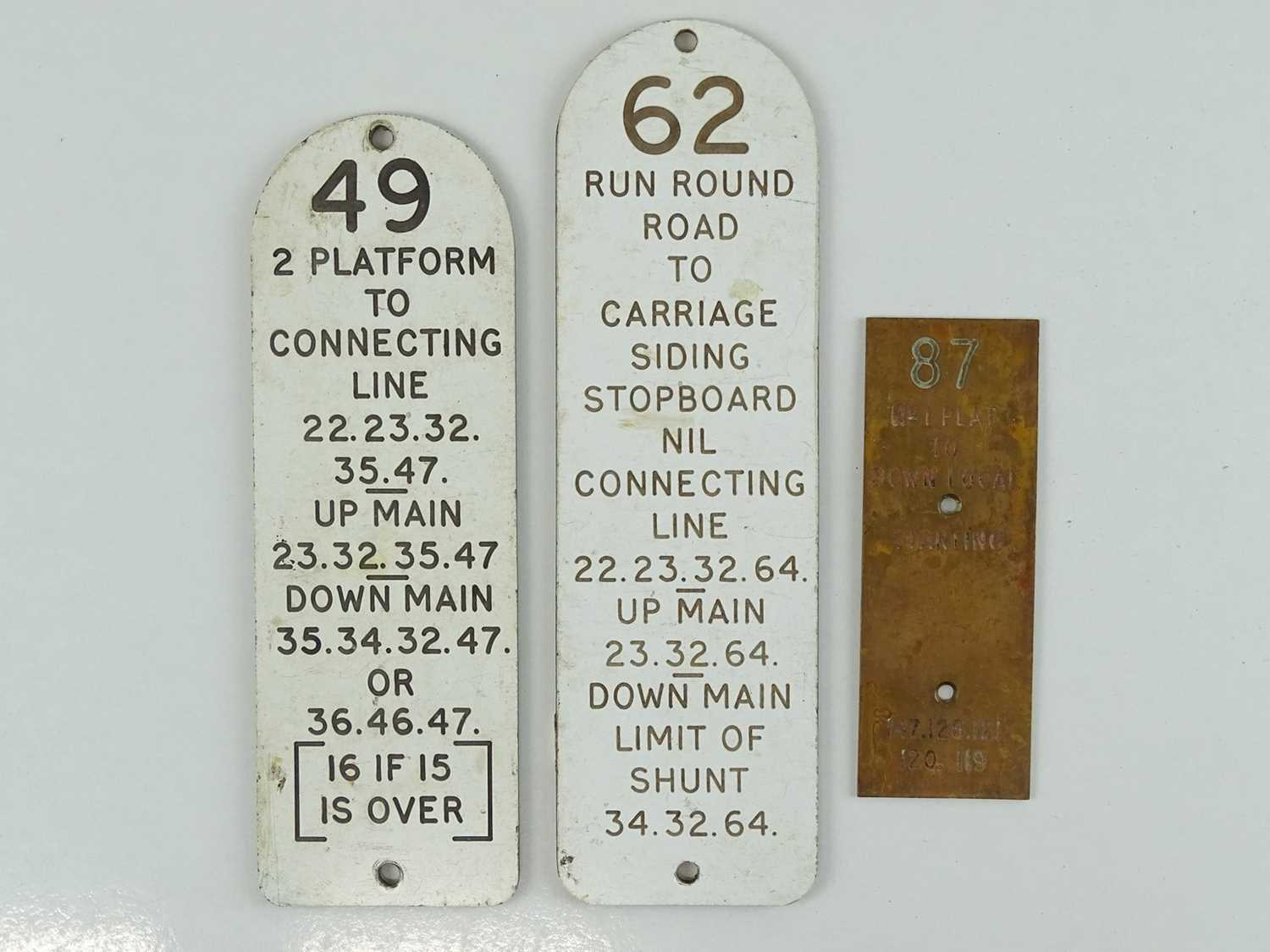 Lot 47 - A mixed group of Railway Signal Box lever...