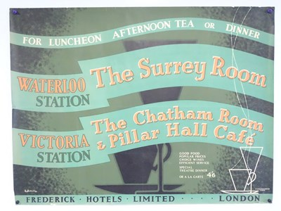 Lot 6 - A railways refreshments advertising poster for:...