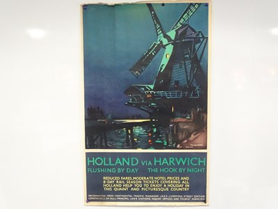 Lot 9 - HOLLAND Via HARWICH (1932) - LNER poster with...