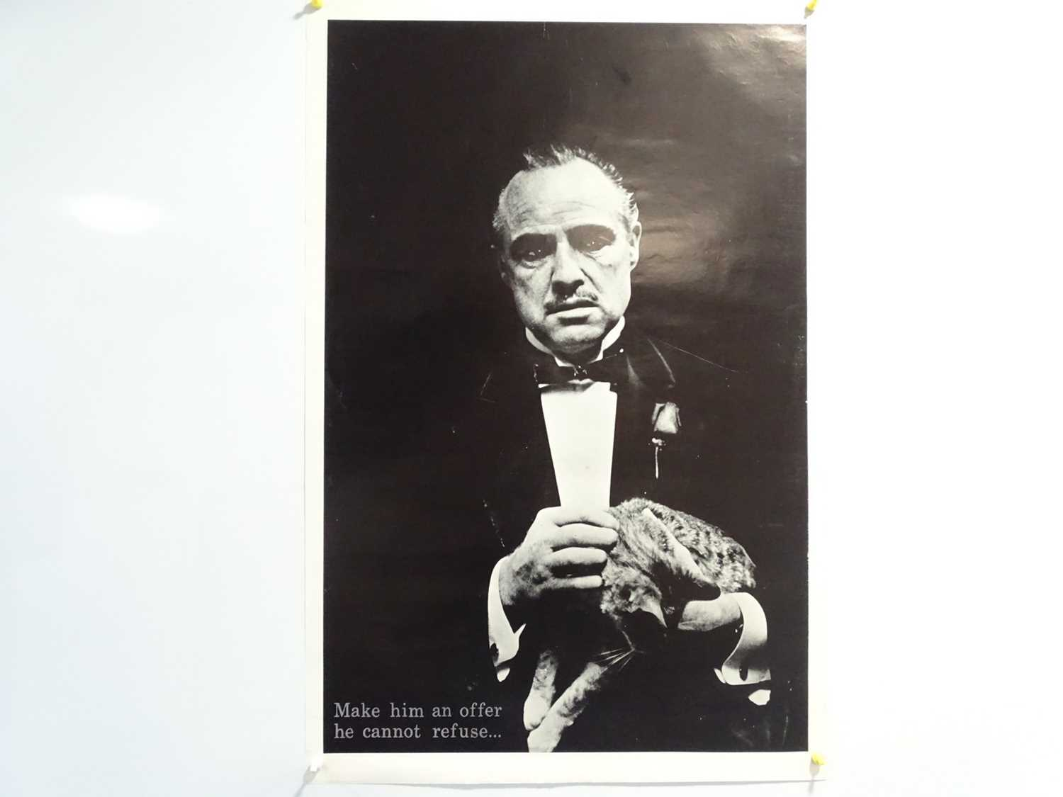 Lot 341 - THE GODFATHER - Black and white portrait,...