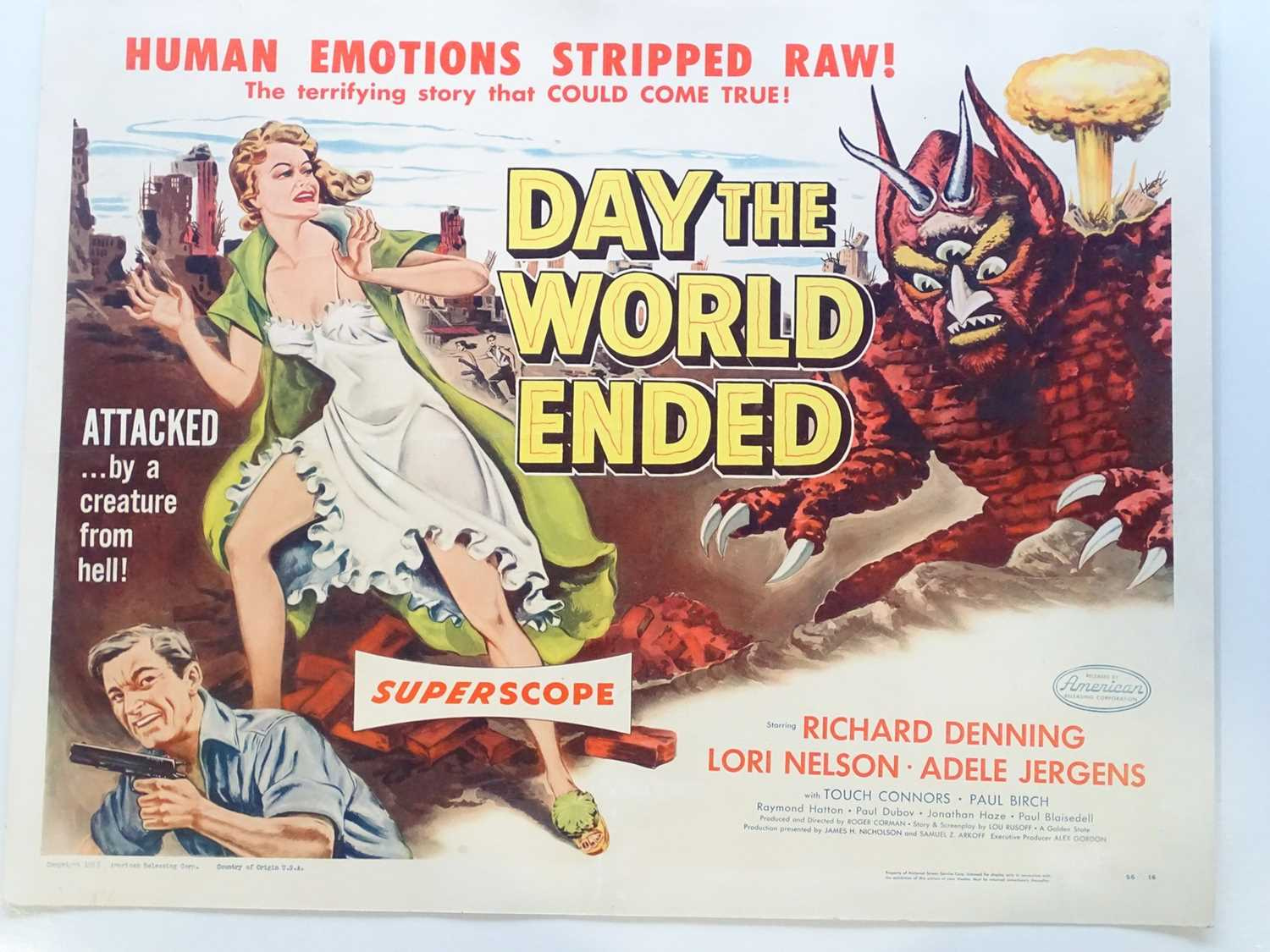 Lot 236 - DAY THE WORLD ENDED (1956) - US half sheet -...