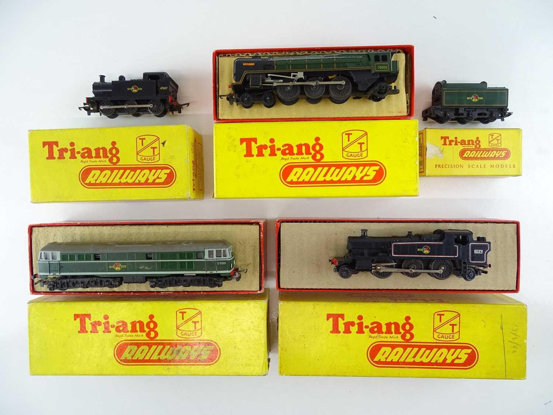 Lot 157 - A group of TRI-ANG TT Gauge locomotives...