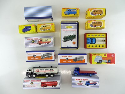 Lot 15 - A group of ATLAS DINKY lorries and vans from...