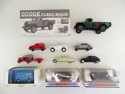 Lot 18 - A group of diecast cars and vans by NOREV,...