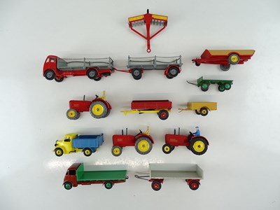 Lot 19 - A group of unboxed DINKY agricultural models,...
