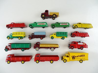 Lot 21 - A group of unboxed DINKY lorry and van models,...