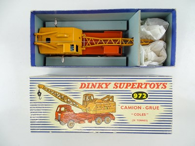 Lot 23 - A FRENCH DINKY 972 Coles Lorry Mounted Crane -...