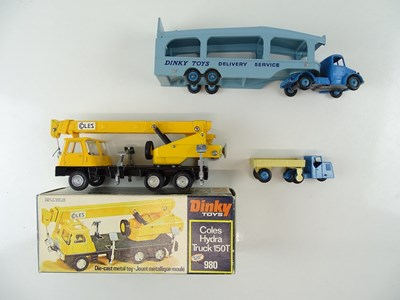 Lot 30 - A group of boxed and unboxed DINKY lorries to...