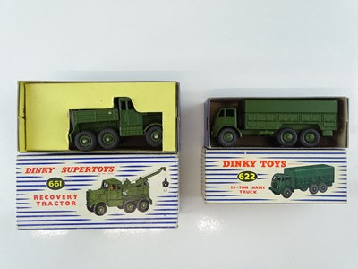 Lot 32 - A pair of DINKY military vehicles comprising a...