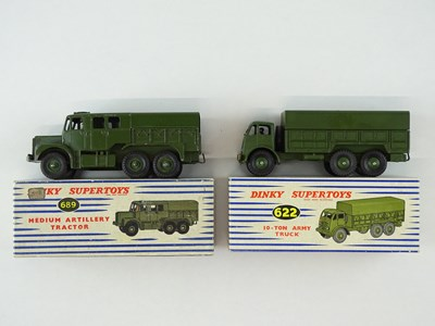 Lot 33 - A pair of DINKY military vehicles comprising a...