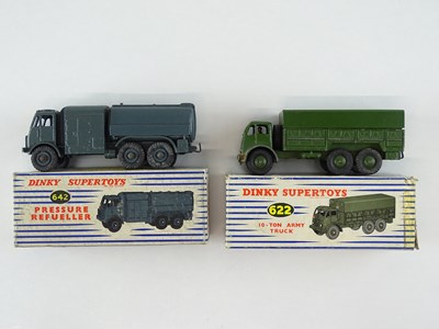 Lot 34 - A pair of DINKY military vehicles comprising a...