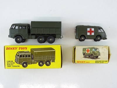 Lot 35 - A pair of FRENCH DINKY military vehicles...
