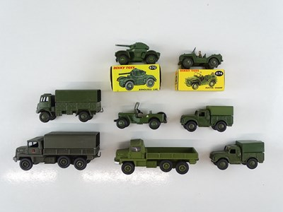 Lot 36 - A group of mostly unboxed DINKY military...