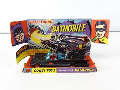 Lot 50 - A pair of CORGI 267 Batmobiles - both original...