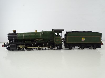 Lot 549 - A kitbuilt O Gauge finescale Hall class steam...