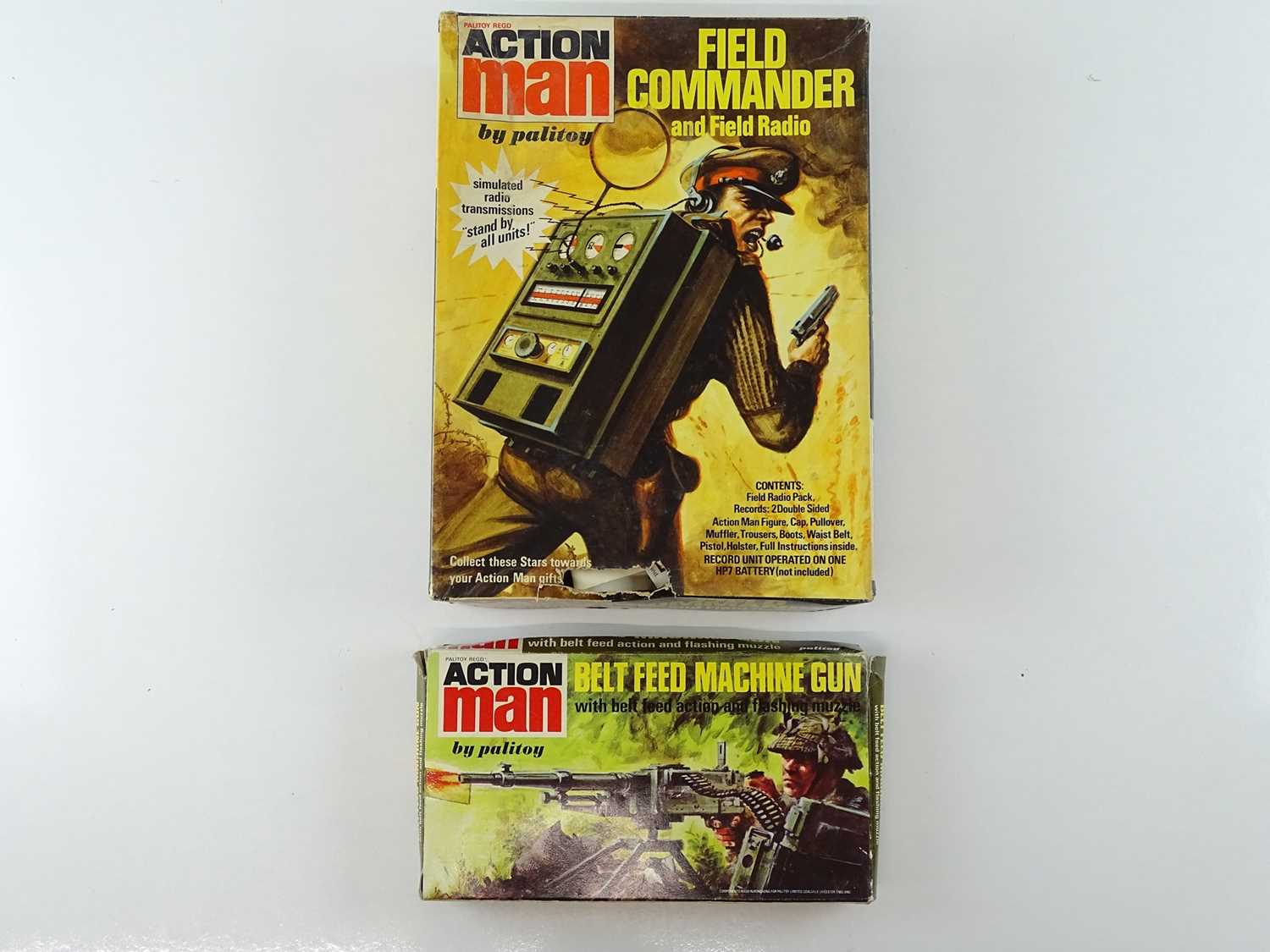 Lot 100 - A pair of ACTION MAN 1970s packs comprising a...